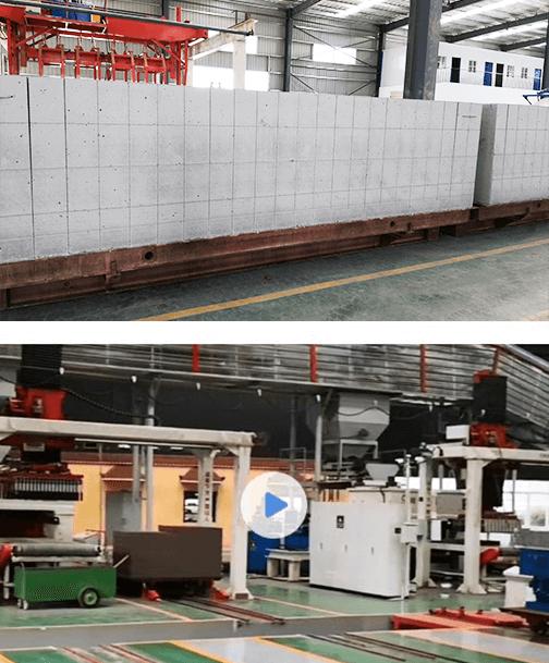 Usine de production de béton cellulaire autoclavé (AAC)